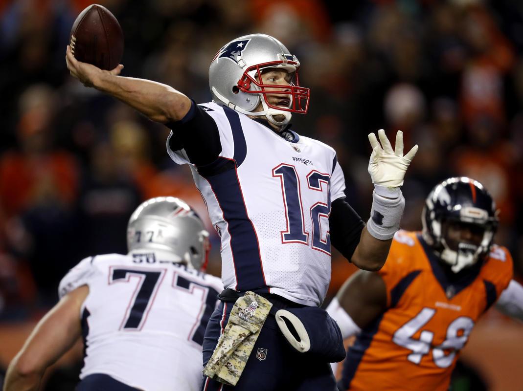 Tom Brady leidde de Patriots voorbij de Broncos