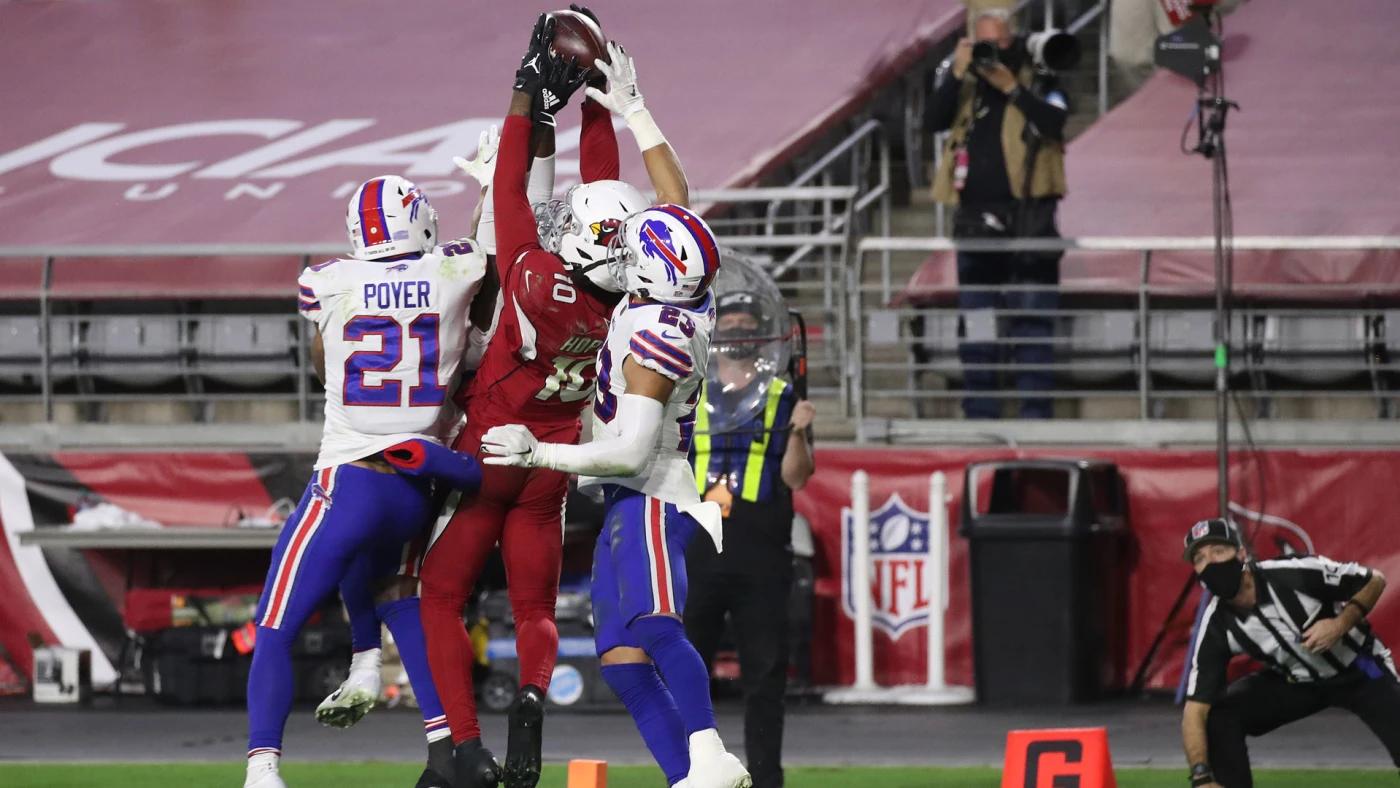Cardinals receiver DeAndre Hopkins met een onwerkelijke catch