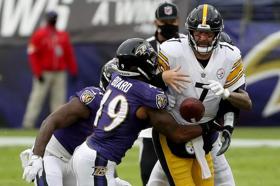 De Steelers van Ben Roethlisberger versloegen de Baltimore Ravens