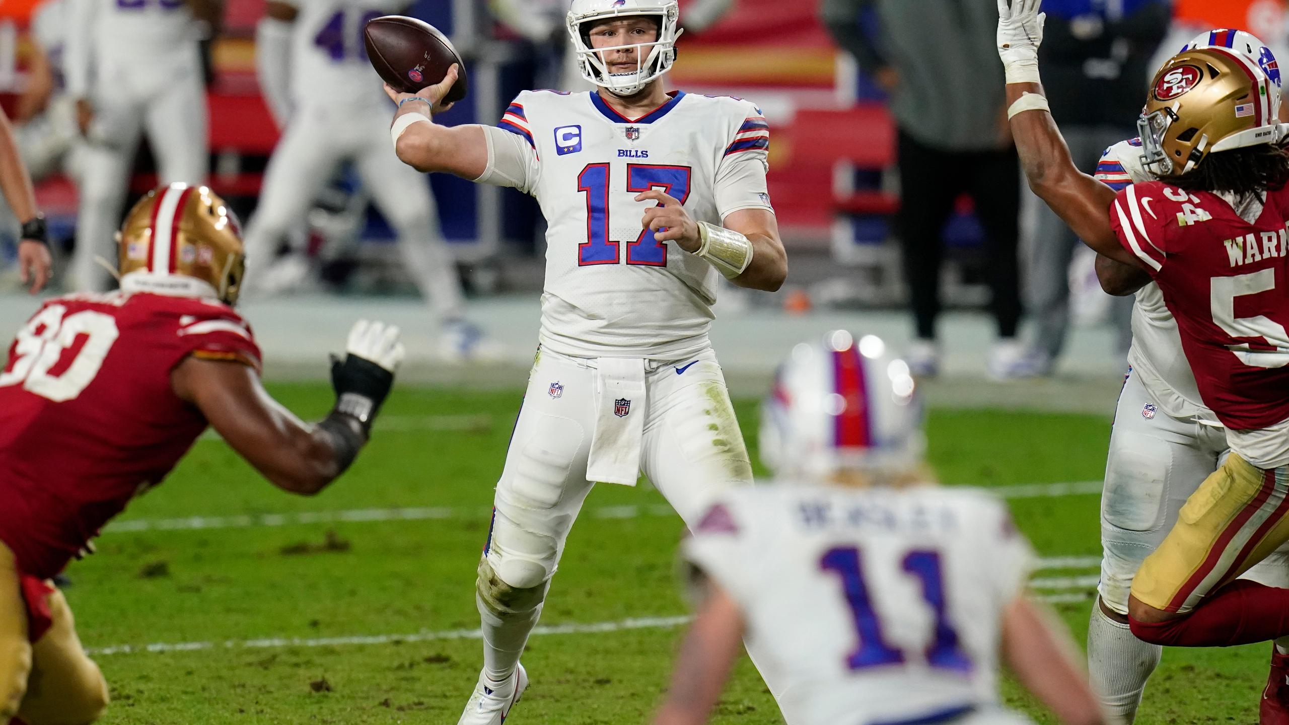 Bills quarterback Josh Allen speelde wederom een ijzersterk duel
