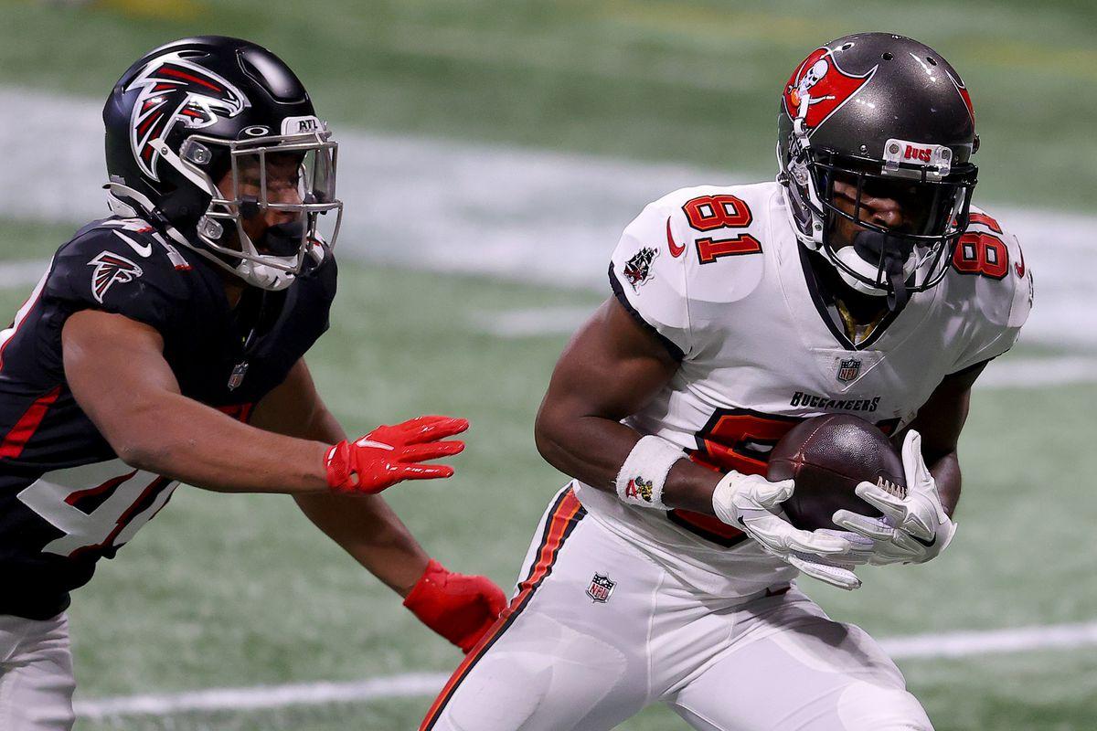 De Bucs wonnen van de Falcons ondanks een slechte eerste helft
